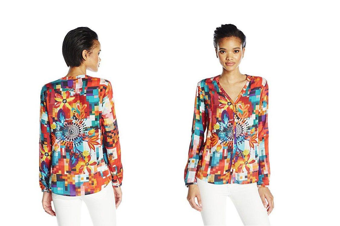 Desigual Damenhemd - Modell CAM BEGONA, rot.