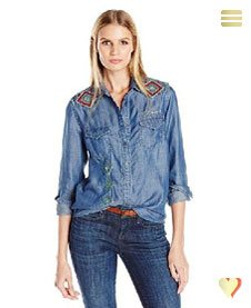Desigual Damenhemd Cam Delia, blau.