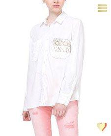 Desigual Hemd Exotic White, weiß