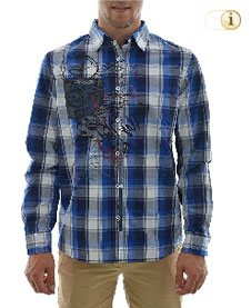 Desigual Hemd Marcel, blau.