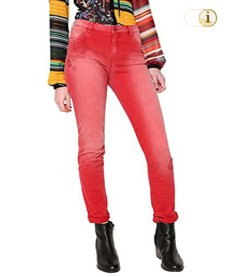 Desigual Jeans, Hose, Damen, Denim, rot.