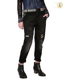 Desigual Jeans, Hose, Damen, Denim, schwarz.