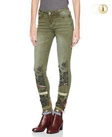 Desigual Jeans, Hose, Damen, Denim, grün.