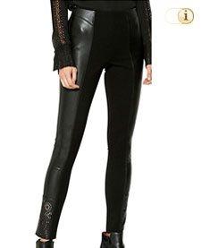 Desigual Hose, Damen, Leder, schwarz.