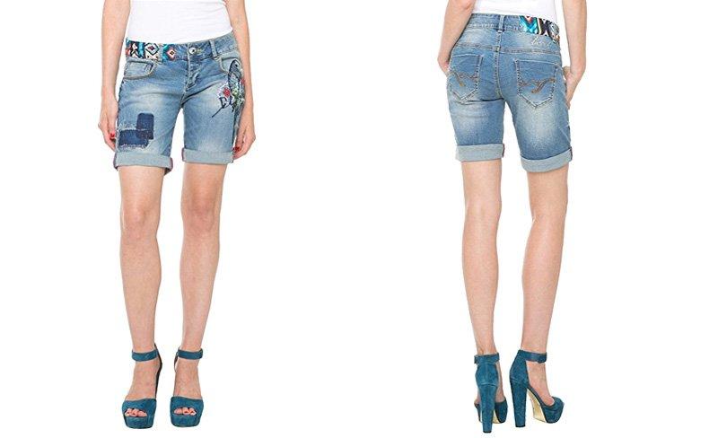 Desigual Short, Jeans, Damen, Denim, blau..