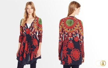 Desigual Herbst, Strickjacke Jers Dida, rot.
