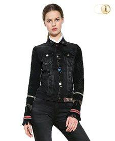 Desigual Jeansjacke Exotic Black, schwarz.