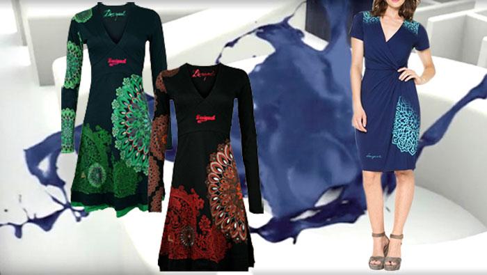 Kleider im desigual stil