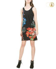 Desigual Damenkleid Vest Crisóstomo, schwarz.