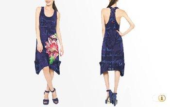 Desigual Sommer, Kleid 'Roula', blau.