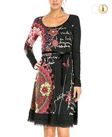 Desigual Damen Kleid Vest Argaret Rep, schwarz.