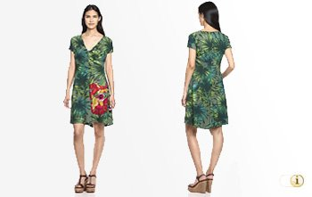 Desigual Sommer, Kleid Maroni, grün.