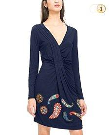 Desigual Kleid Vest Paula,blau.