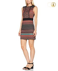 Desigual Kleid Vest Birmania, orange, schwarz.