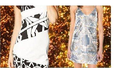 Desigual Sommer, Kleid Hello, schwarz, weiß und Desigual Sommer, Kleid Vest dorotea, silber.