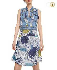 Desigual Kleid Vest Delaware mit Jeansweste, blau.