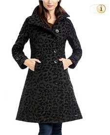 Schwarzer Desigual Wintermantel für Damen. Mantel ABRIG ACID DREAM, schwarz-brokat.