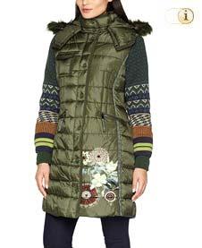 Grüner Desigual Wintermantel für Damen. Mantel Abrig michelle, grün.