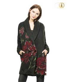Schwarzer Desigual Wintermantel, für Damen. Mantel Sant Celoni, schwarz.