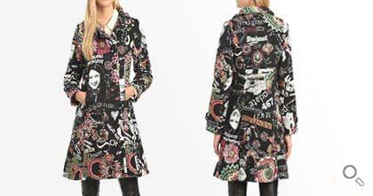 Desigual Mantel für Damen. Mantel Love Letters.