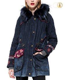 Desigual Wintermantel, Mantel CHAQ NATASHA, blau, Jeans.