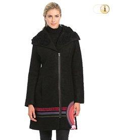 Desigual Wintermantel, Mantel Abrig Jessy, schwarz.