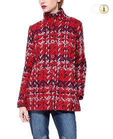 Desigual Wintermantel, Mantel Abrig coat, rot.