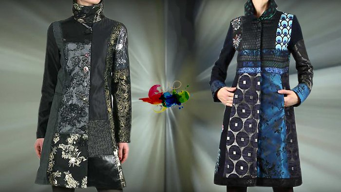 Desigual Wintermantel, Mantel Dark Night, schwarz und Mantel Blue Morning, schwarz, blau.
