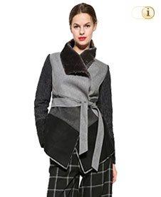 Desigual Damen Wintermantel, Mantel BIBIANNE, grau.