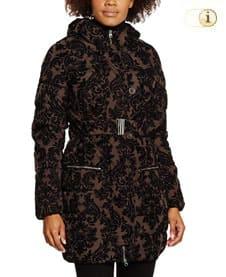 Brauner Desigual Wintermantel für Damen, Jaran schwarz-braun.