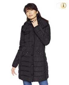 Schwarzer Desigual Wintermantel für Damen. Mantel Abajo, schwarz.