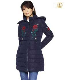 Blauer Desigual Wintermantel für Damen. Mantel Azul, blau.