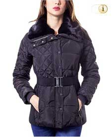 Desigual Winterjacke, Daunensteppjacke, Luxury Fashion, pflaume.