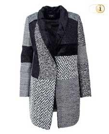 Desigual Wintermantel für Damen. Mantel Merlon, grau.