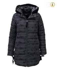 Desigual Daunen-Wintermantel für Damen, gepolstert, schwarz.