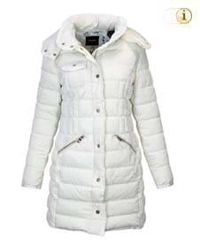 Desigual Daunen-Wintermantel für Damen, gepolstert, weiß.