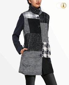 Desigual Damen Mantel Abrig rosita,schwarz/grau.