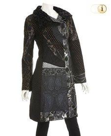 Desigual Mantel Mujer, schwarz.