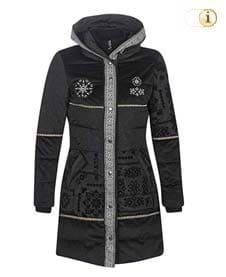 Desigual Daunen-Wintermantel Noa für Damen, gepolstert, schwarz.