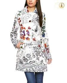 Weißer Desigual Mantel für Damen. Mantel Vilanova, weiß.