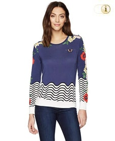 Desigual -All by Myself- Sweatshirt, blau