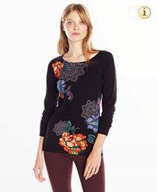 Schwarzer Desigual Pullover Sophia, schwarz.