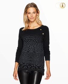 Schwarzer Desigual Pullover Gaea, schwarz.