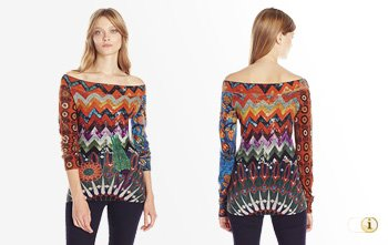 Desigual Herbst, Pullover 'Stay With Me', bunt.