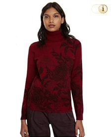 Desigual Pullover JERS Garden, rot.