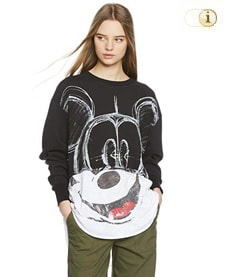 Desigual Pullover, France Mickey, schwarz.