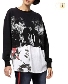 Desigual Mickey Sweatshirt, schwarz.