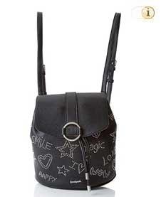 Schwarzer Desigual Rucksack, Galaxy Mini Backpack, schwarz.