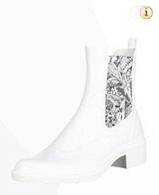 Desigual Stiefelette, Gummistiefel Mid Rain Paisley, Herbst, weiß, Blume.