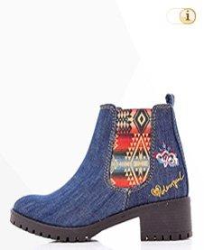 Desigual Stiefelette, CHARLY DENIM, Herbst, Jeans, blau.